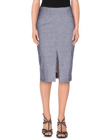 SAM & LAVI Knee Length Skirt in Dark Blue
