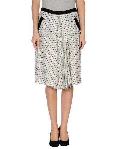 MOMONÍ Knee Length Skirt in Light Grey