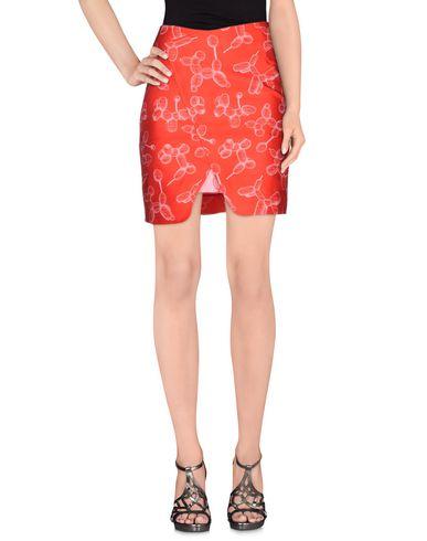 OSTWALD HELGASON Knee Length Skirt in Red