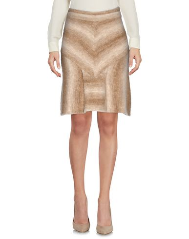 VICEDOMINI Knee Length Skirt in Camel