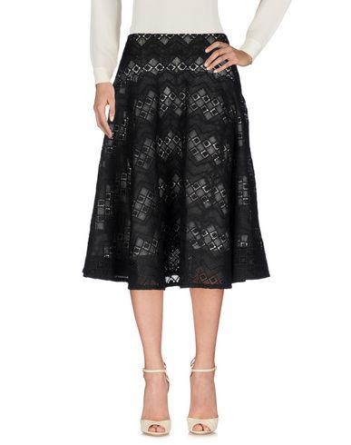 TY-LR Knee Length Skirt in Black