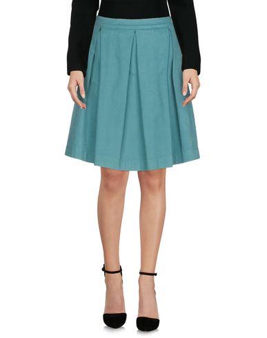 MONOCROM Knee Length Skirt in Deep Jade