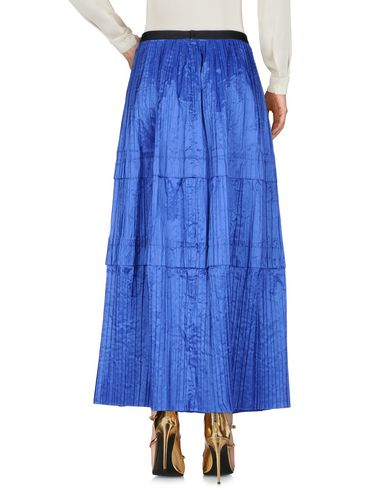 Renta La De Bleu Longue Jupe Oscar qwAEC77