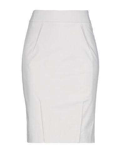SEDUCTIVE Knee Length Skirt in Light Grey