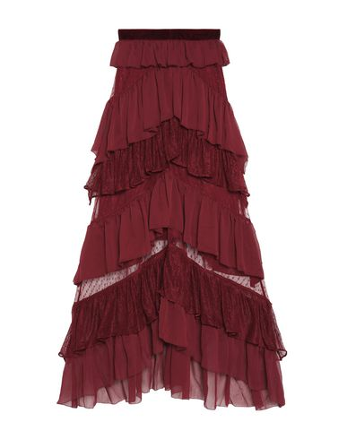 PERSEVERANCE Maxi Skirts in Maroon
