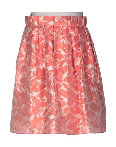 Armani Collezioni Knee Length Skirt In Brick Red
