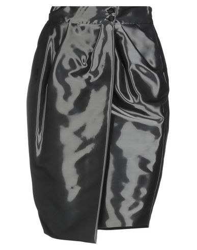 IO COUTURE Knee Length Skirt in Steel Grey