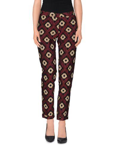 MONOCROM Casual Pants in Maroon