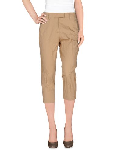 DONDUP CROPPED PANTS & CULOTTES, SAND