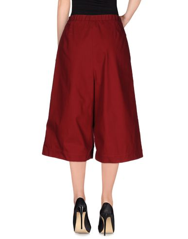 Anna Sammarone Cropped Pants & Culottes, Maroon