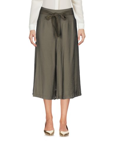 INTROPIA CROPPED PANTS & CULOTTES, MILITARY GREEN