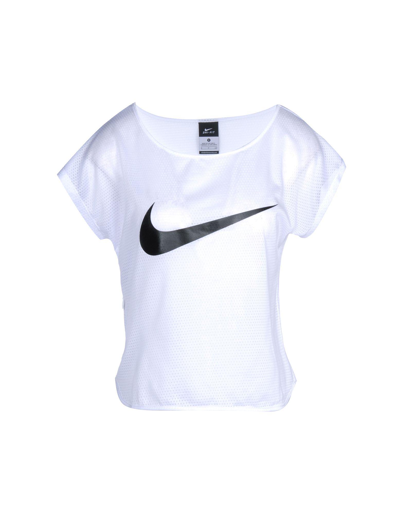 8e2c2117ab646 Camiseta Nike City Cool Swoosh Ss - Mujer - Camisetas Nike en YOOX -  37871630WL