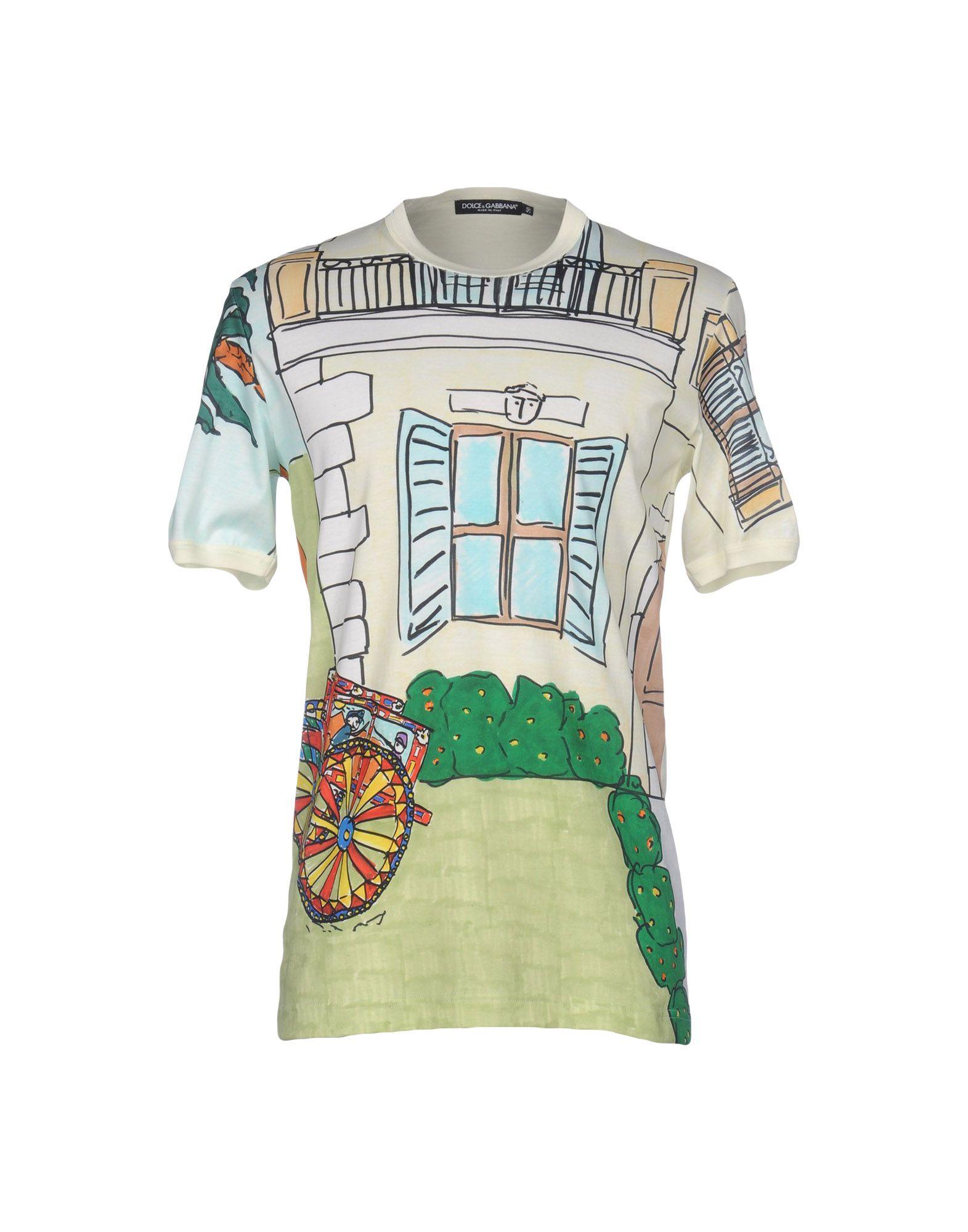 Dolce   Gabbana T-Shirt - Men Dolce   Gabbana T-Shirts online on YOOX Hong  Kong - 37931782KP da0c2fc0f13