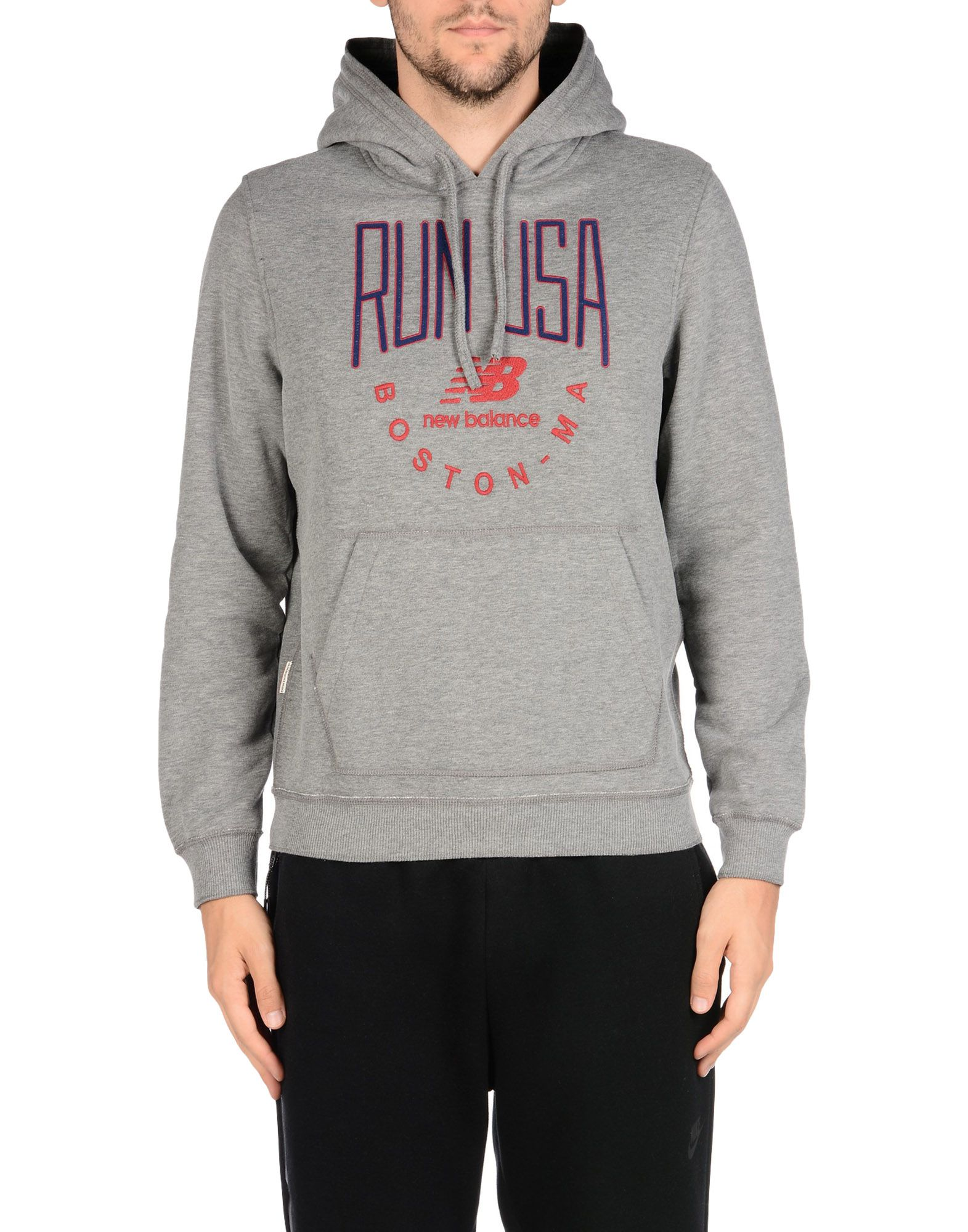 Felpa Nuovo Balance Balance Nuovo Run Usa Hood Sweat Fleece - Uomo - 37932376CT 958302