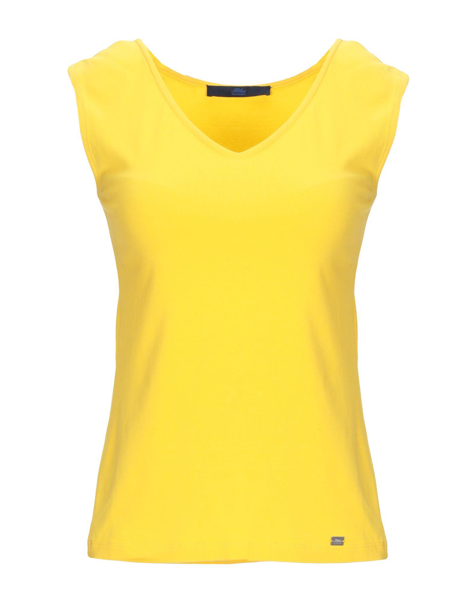 T-Shirt Blau Les Copains damen - 37954088NF
