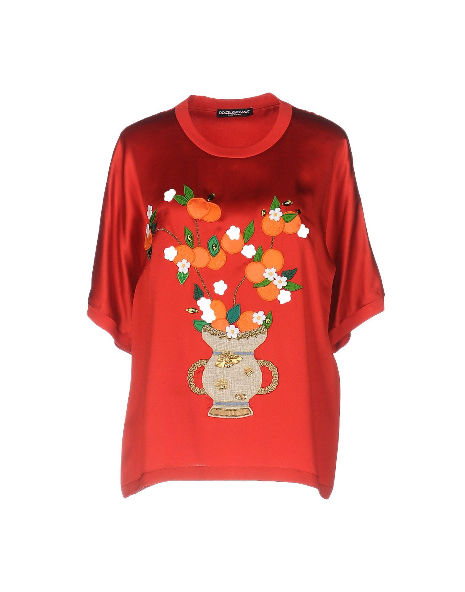 Gabbana Blouse Ligne Femme En À DouceAcheter amp; SUpMVqz