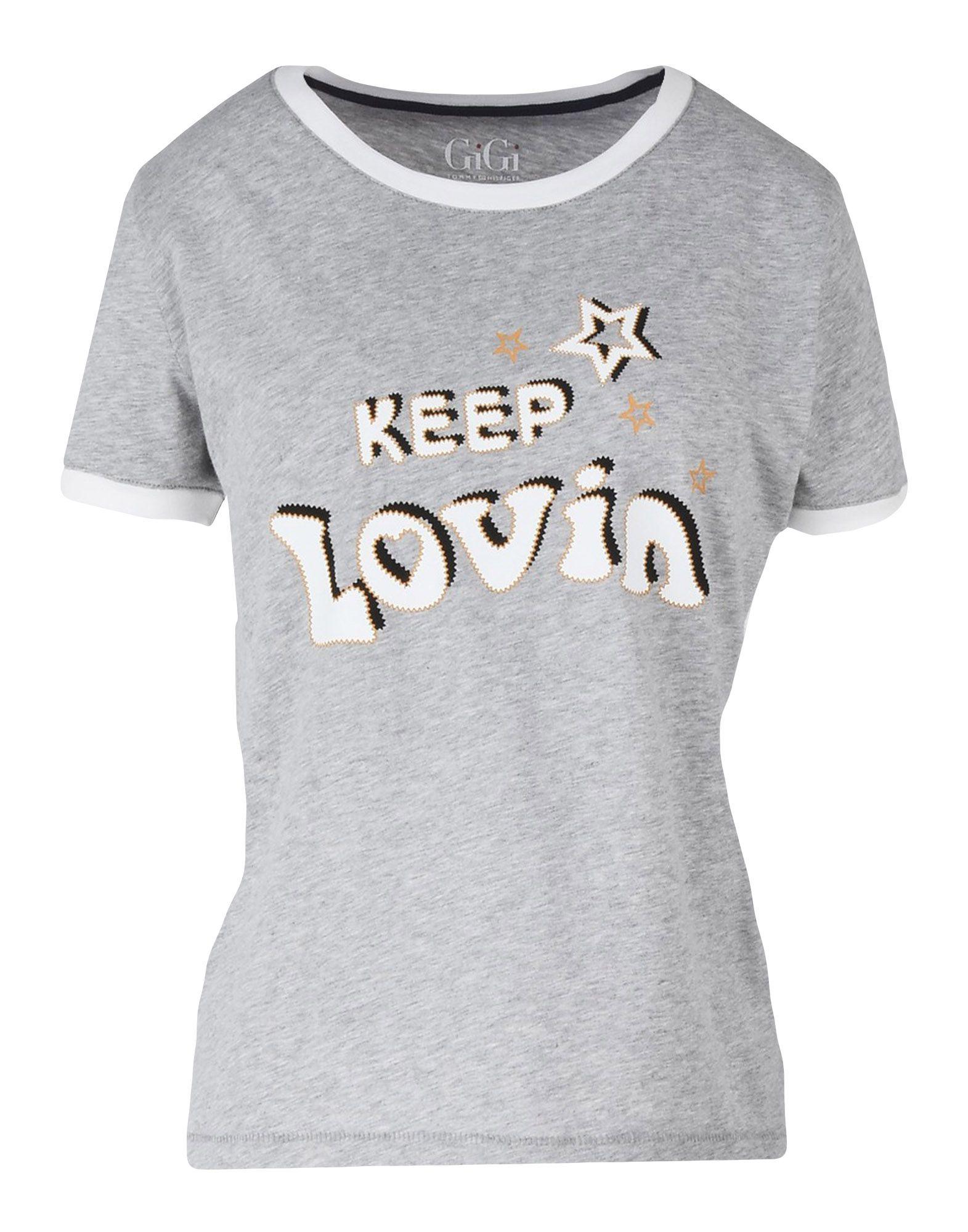 64c8a8d3 Gigi Hadid X Tommy Hilfiger Gigi Ringer Tee Keep Lovin - T-Shirt ...