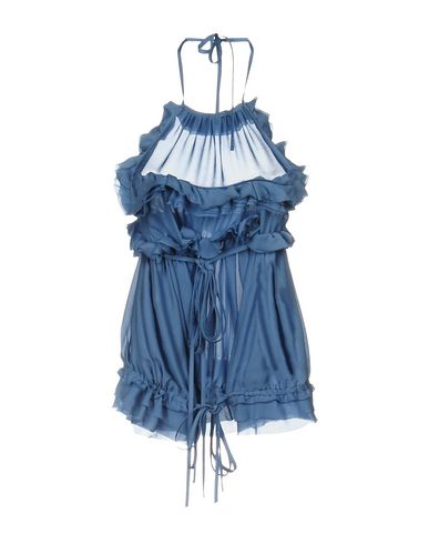 Dondup Silk Top, Sky Blue