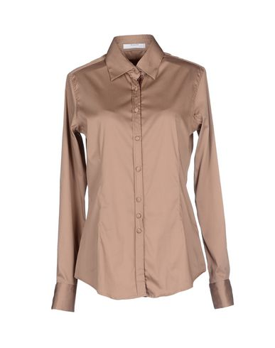 AGLINI Solid Color Shirts & Blouses in Camel
