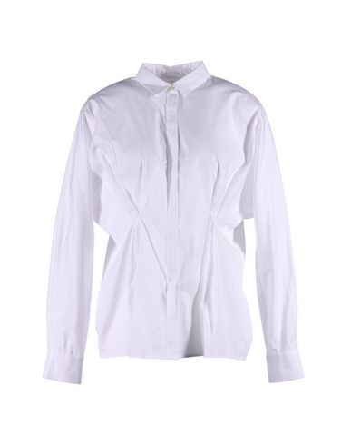 THAKOON ADDITION Solid Color Shirts & Blouses in White