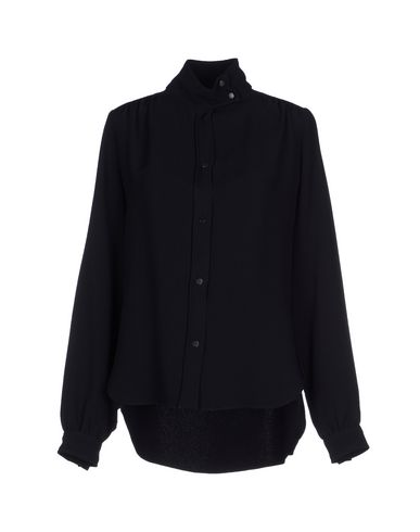 PEDRO DEL HIERRO Solid Color Shirts & Blouses in Black
