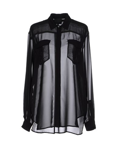HOTEL PARTICULIER Solid Color Shirts & Blouses in Black