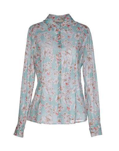 SCERVINO STREET Floral Shirts & Blouses in Light Green