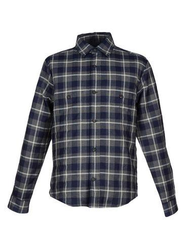 HARDY AMIES Checked Shirt in Dark Blue