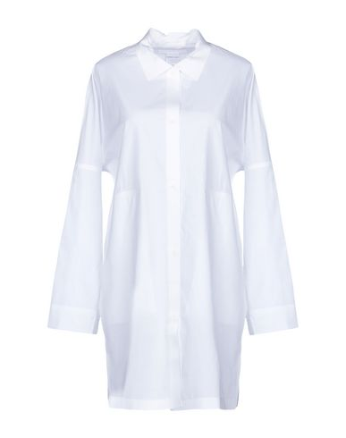 BARBARA ALAN Solid Color Shirts & Blouses in White