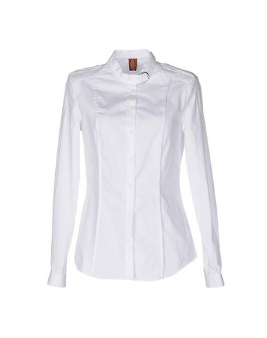 DONDUP SOLID COLOR SHIRTS & BLOUSES, WHITE