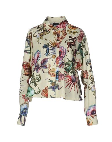 JUST CAVALLI FLORAL SHIRTS & BLOUSES, LIGHT YELLOW