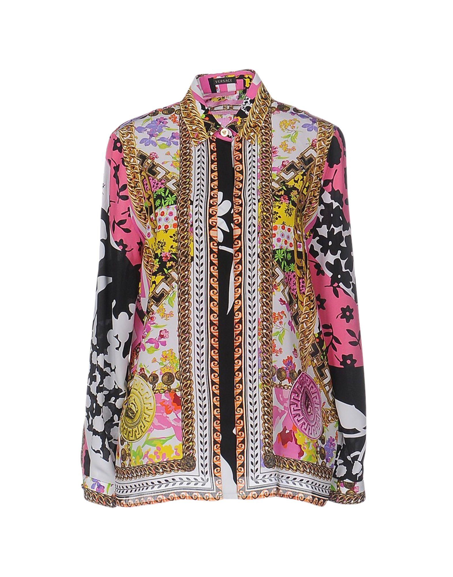 couleurs délicates Prix usine 2019 meilleur site web VERSACE Patterned shirts & blouses - Shirts | YOOX.COM