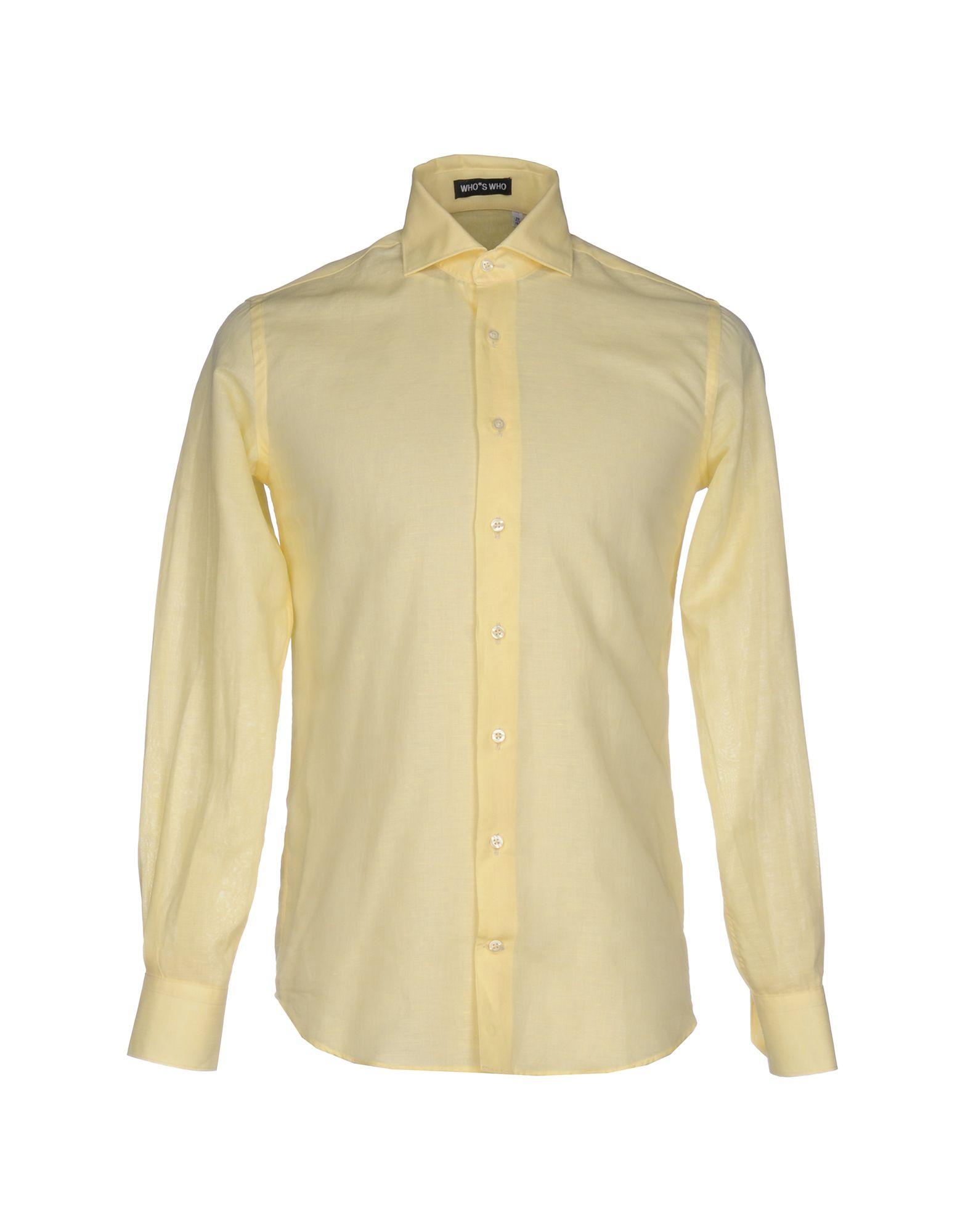 Camicia Tinta Unita Who*S Who Uomo - Acquista online su