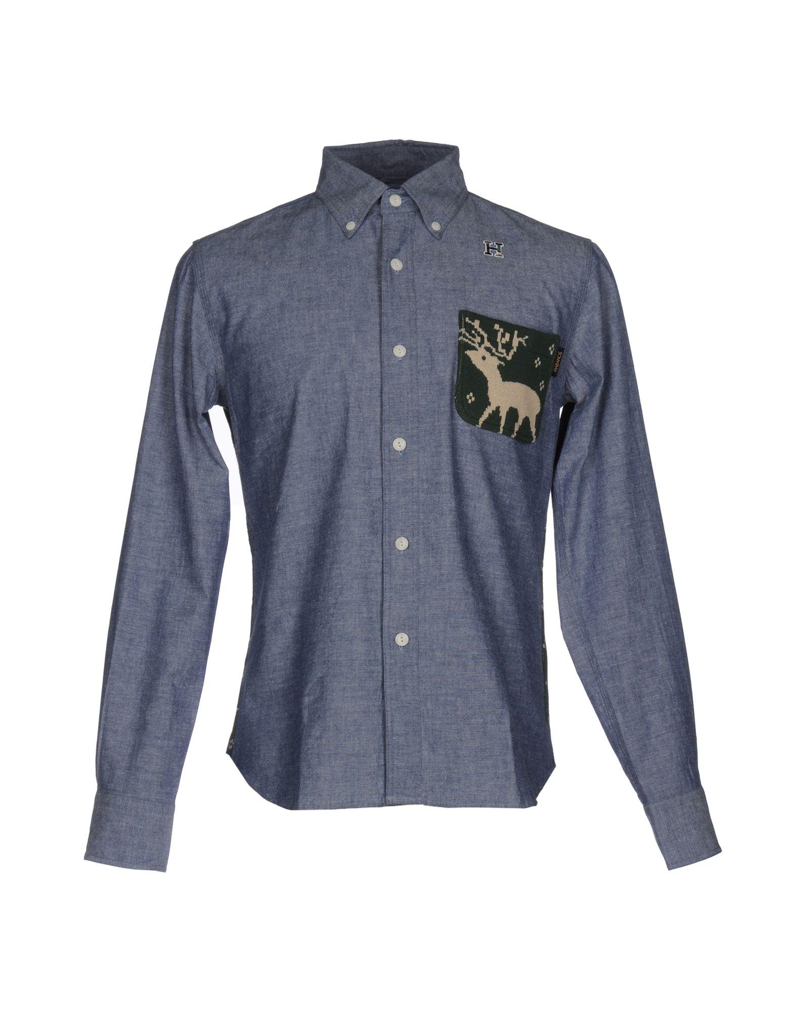 Camicia Tinta Unita Hbns Uomo - Acquista online su