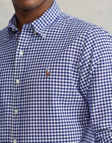 klaring utrolig pris klaring online amazon Polo Ralph Lauren Slank Rutete Bomull Poplin Skjorte Camisa De Cuadros salg salg nyeste pPy1qaG