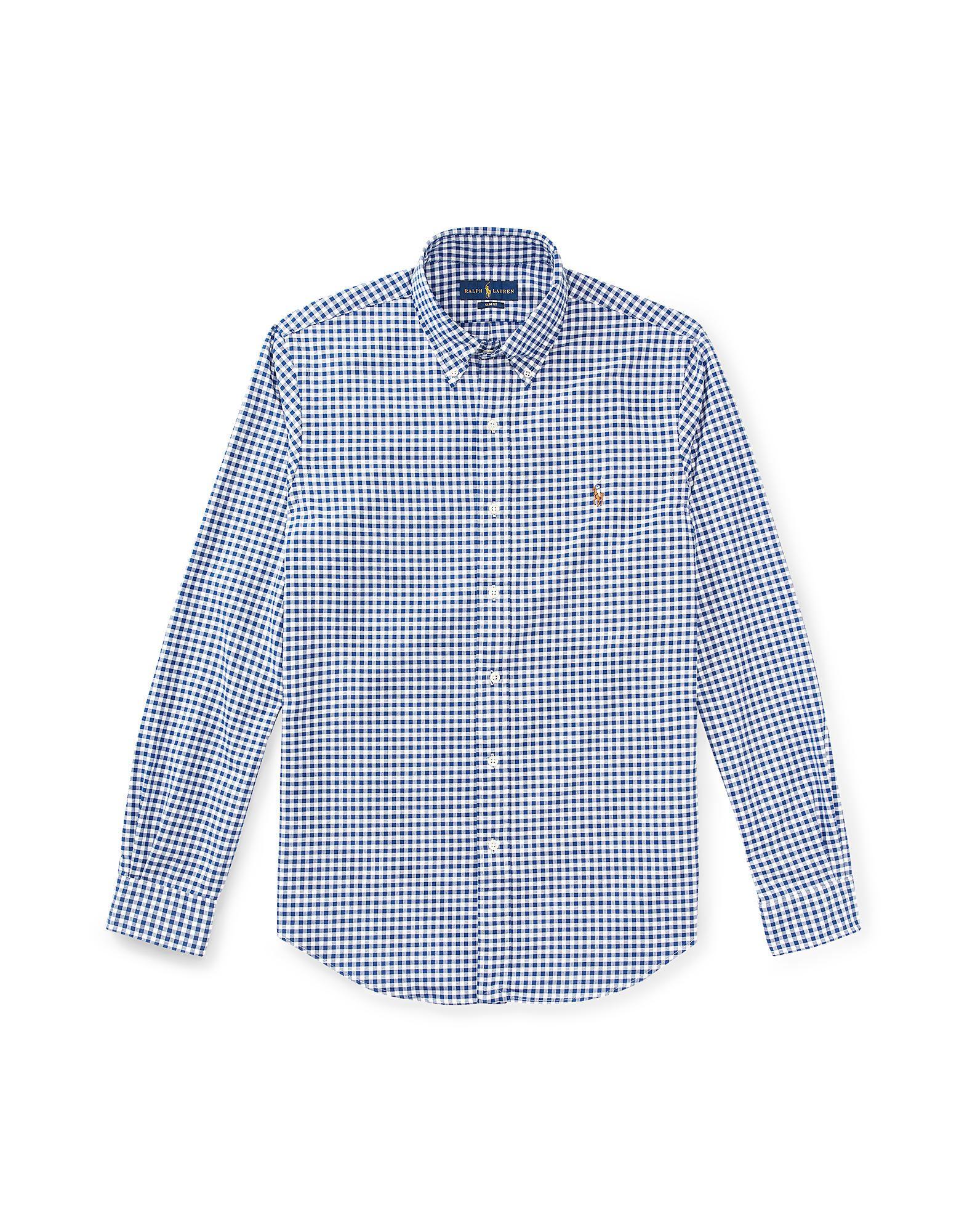 385f9634d247 Καρό Πουκάμισο Polo Ralph Lauren Slim Plaid Cotton Poplin Shirt - Άνδρας -  Καρό Πουκάμισα Polo Ralph Lauren στο YOOX - 38628905CW