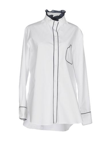 PARDEN'S Solid Color Shirts & Blouses in White