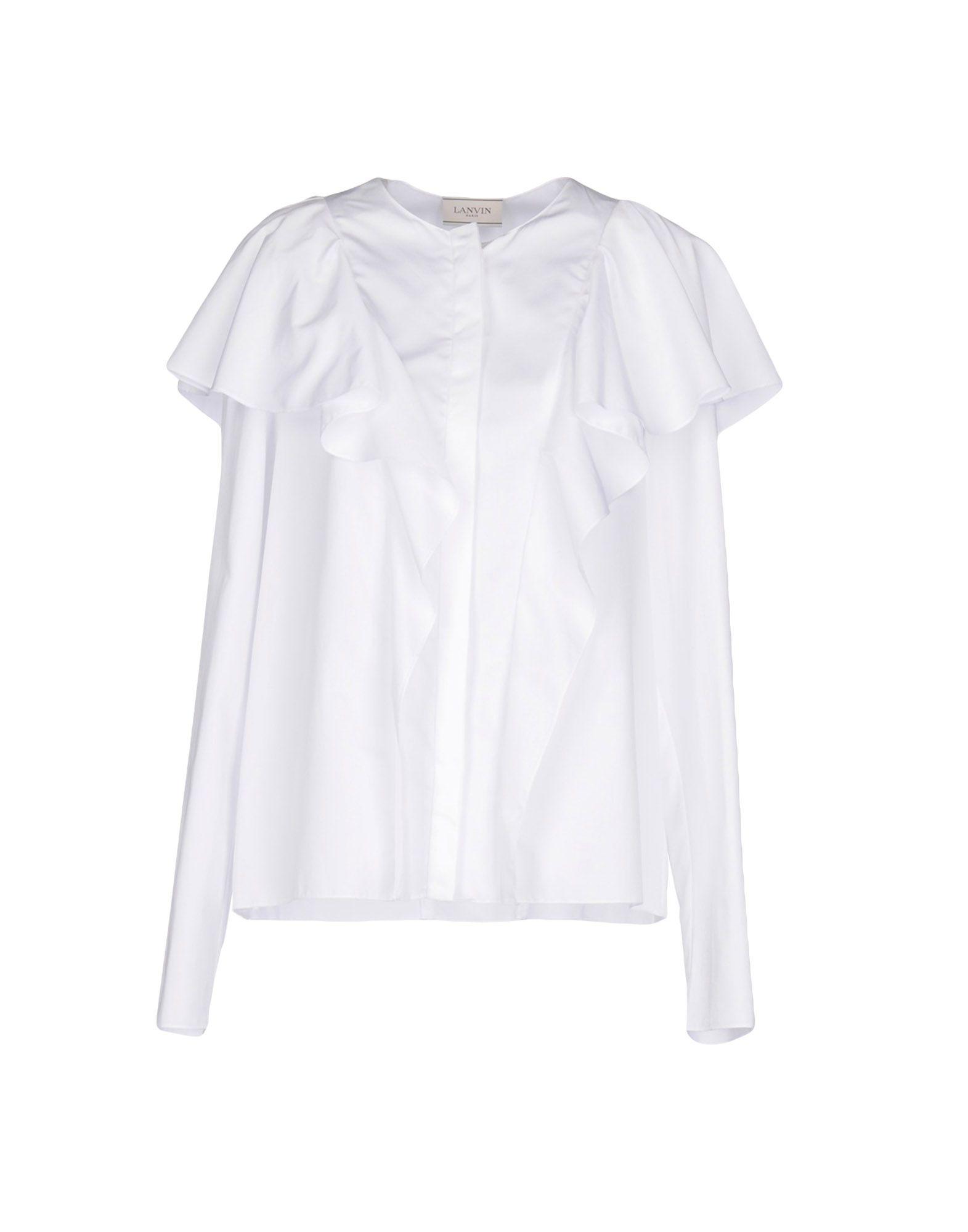 Solide Femme En Et Chemisiers LanvinVente Ligne Chemises Yb7y6gf