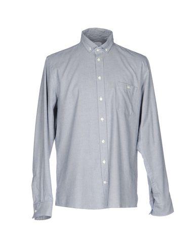RICHARD JAMES Patterned Shirt in Slate Blue