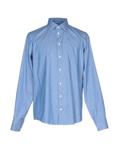RICHARD JAMES Solid Color Shirt in Slate Blue