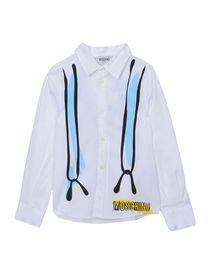 MOSCHINO KID - Solid color shirt