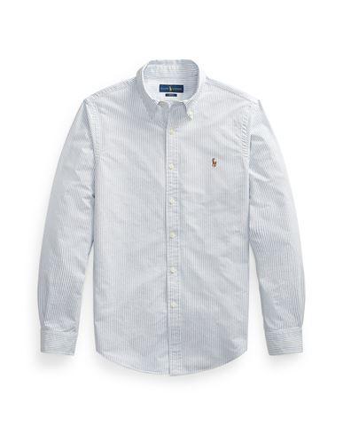 2b5d1774bb42 Polo Ralph Lauren Slim Fit Cotton Oxford Shirt - Striped Shirt - Men ...