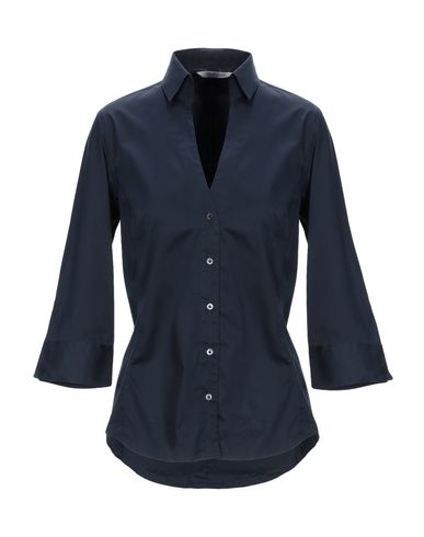 GUGLIELMINOTTI Solid Color Shirts & Blouses in Dark Blue