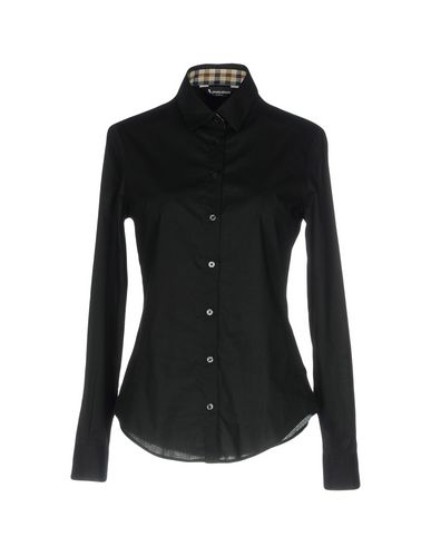 AQUASCUTUM Solid Color Shirts & Blouses in Black