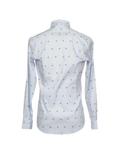 Shop-Angebot Zum Verkauf DANIELE ALESSANDRINI HOMME Hemd mit Muster Grenze Angebot Billig hfIdJOIsNK