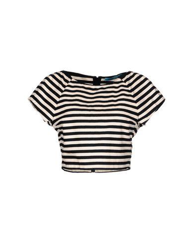ALICE + OLIVIAストライプ柄シャツ