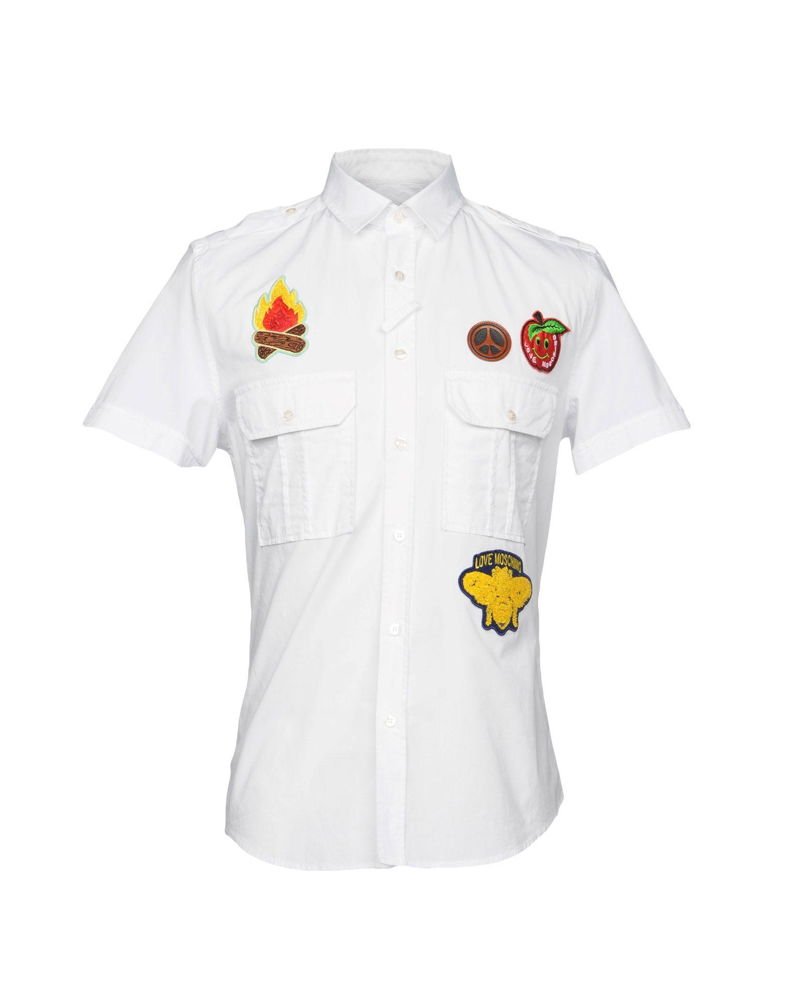 Camicia Tinta Unita Love Moschino Uomo - Acquista online su