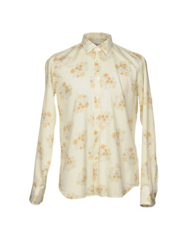 BEVILACQUA Patterned Shirt in Light Yellow