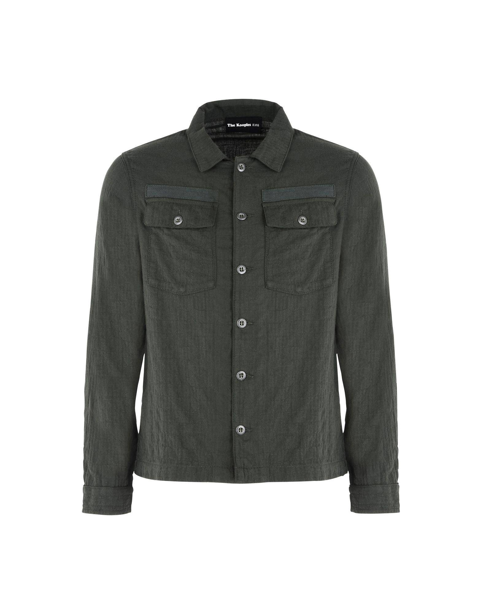 Camicia Tinta Unita The Kooples Embroidered Army Short - Uomo - Acquista online su