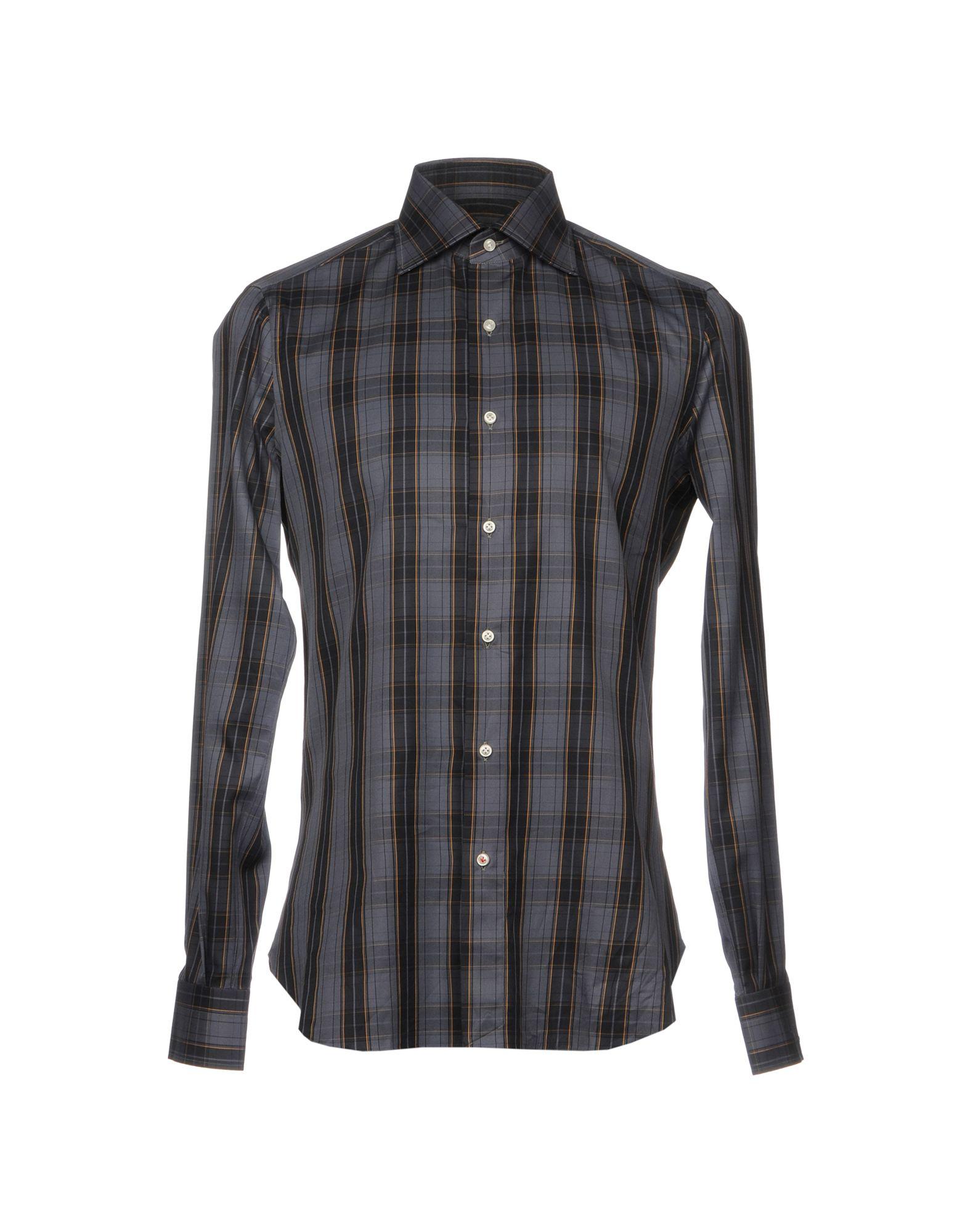 b6045a0515 Isaia Camicia Quadri A Su UomoAcquista Online QCrhdts